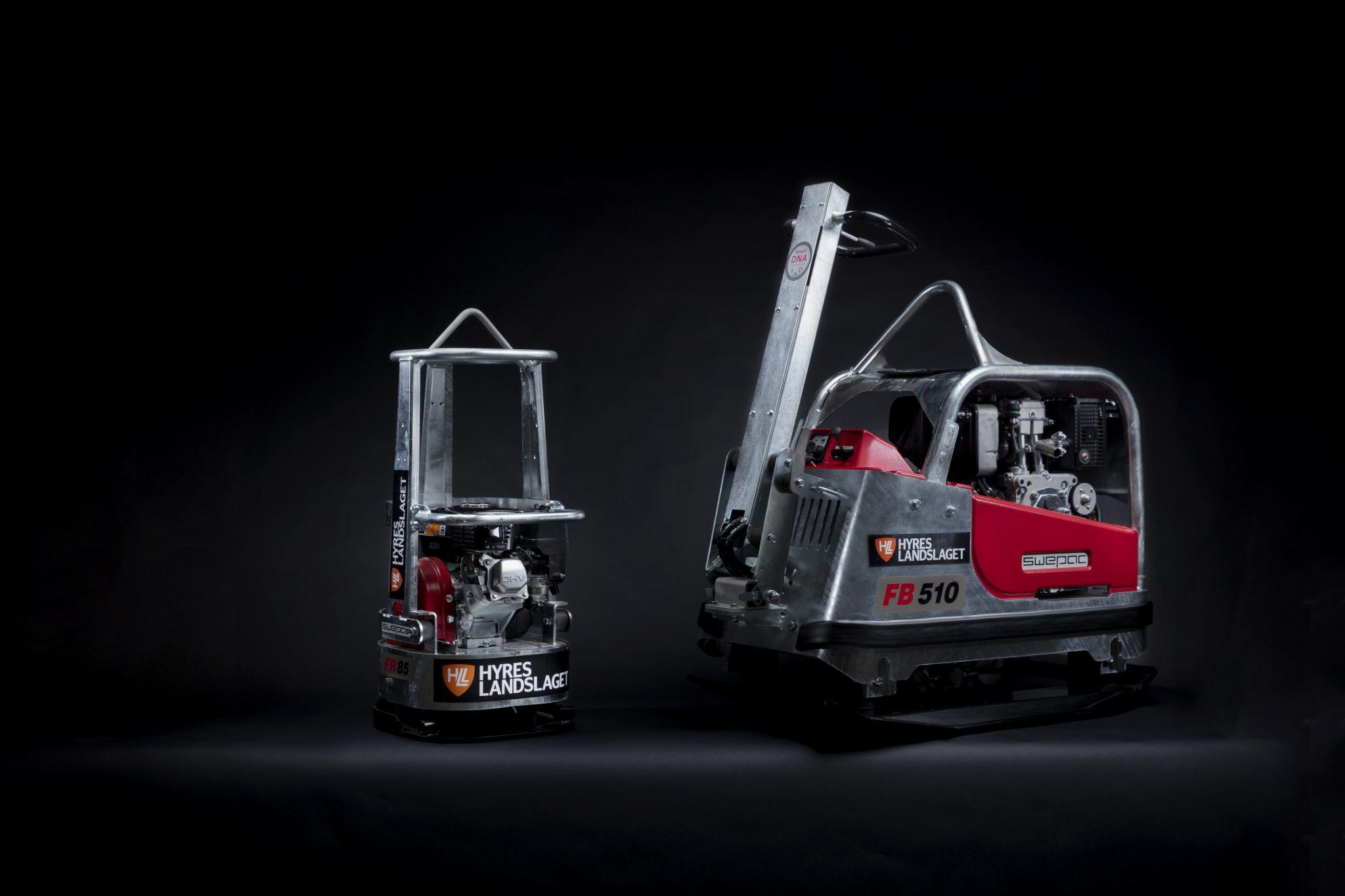 Swepac vibratorplattor, FB 510 & FR 85